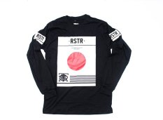Jual Rousters Division T Shirt Long Sleeve Unisex Hitam Baru