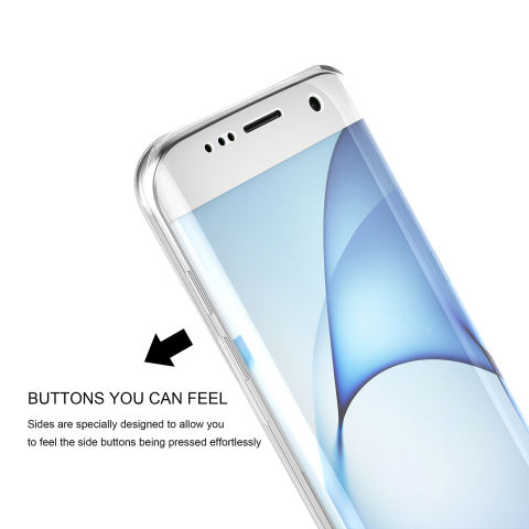 Roybens 360 Degree Full Body Protect Soft TPU Case Front + Back Cover untuk Samsung Galaxy