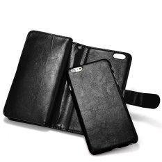 Beli Roybens Kulit 9 Kartu Slot Dompet Magnetic Dilepas Flip Stand Cover Untuk Iphone 6 6 S Hitam Dengan Kartu Kredit