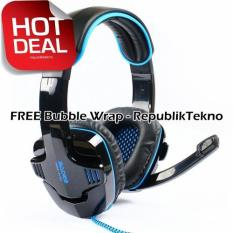 Sades Wolfang SA-901 Headset Gaming High Quality Bass with Sound Card - Hitam USB 2.0 Headphone with Microphone