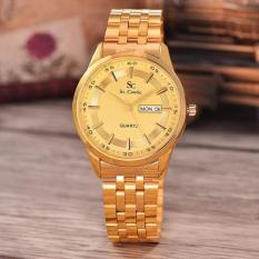 Saint Costie Original Brand, Jam Tangan Pria - Body Gold - Gold Dial - Stainless