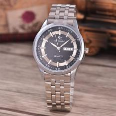 Review Saint Costie Original Brand Jam Tangan Pria Body Silver Black Dial Stainless Stell Band Sc Rt 8017G Th Sb Pnp Indonesia