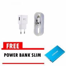 Toko Samsung Travel Charger Fast Charging Original 15W With Micro 2 Usb Cable 2 Putih Free Power Bank Slim Termurah