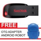 Diskon Sandisk Flash Disk Cruzer Blade 16 Gb Gratis Otg Adapter Android Robot Biru Akhir Tahun