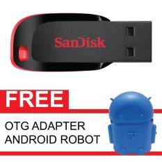 Katalog Sandisk Flash Disk Cruzer Blade 16 Gb Gratis Otg Adapter Android Robot Biru Terbaru
