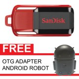 Beli Sandisk Flash Disk Cruzer Switch 16 Gb Gratis Otg Adapter Android Robot Hitam