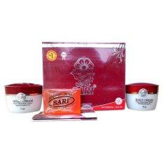 Jual Sari Cosmetics Original Bpom Cream Whitening Untuk Kulit Normal 1 Set Sari Cosmetics Di North Sumatra