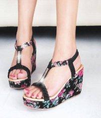 Sepatu KulturWanita Kets Casual N Bunga SDS120- HITAM