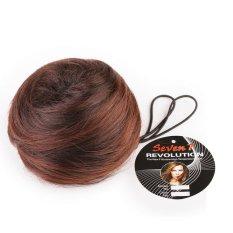 Jual Cepat Seven 7 Revolution Fun Bun Dark Cokelat Tua Hairclip Korea Darkbrown