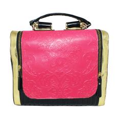Shine Accessories - Tas Kulit Ukir List Kotak - TU0600 (Pink Magenta)
