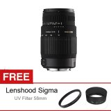 Spesifikasi Sigma 70 300Mm F 4 5 6 Dg Macro Japan For Canon Free Lens Hood Uv Filter 58Mm Terbaru