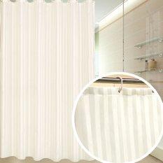 Kesederhanaan tapi Tidak Sederhana Polyester Shower Curtain 72-inch Oleh 72-inch, Gading