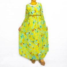 Simply The Label Butterfly Dress - Kuning