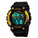 Spesifikasi Skmei 1054 Digital Watch Shock Militer Sport Watch Water Resistant 50M Hitam Gold Dan Harga