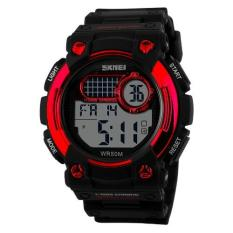 Harga Termurah Skmei 1054 Digital Watch Shock Militer Sport Watch Water Resistant 50M Hitam Merah