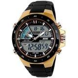 Jual Skmei Casio Men Sport Led Watch Water Resistant 50M Ad1016 Golden Murah