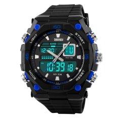 Toko Skmei Casio Men Sport Led Watch Water Resistant 50M Ad1092 Hitam Biru Termurah Di Dki Jakarta