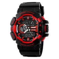 Ulasan Skmei Casio Men Sport Led Watch Water Resistant 50M Ad1117 Merah
