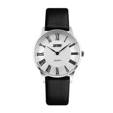 Harga Skmei Casual Women Leather Strap Watch Water Resistant 30M 9092Cl Putih Dan Spesifikasinya