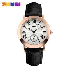 Harga Skmei Fashion Casual Ladies Leather Strap Watch Water Resistant 30M 1083Cl Hitam Yg Bagus