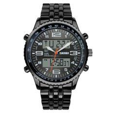Spesifikasi Skmei Men Sport Led Watch Water Resistant 50M Ad1032 Hitam Dan Harganya