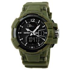 Diskon Skmei Military Men Sport Led Watch Water Resistant 50M Ad1040 Army Hijau Akhir Tahun