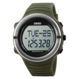 Penawaran Istimewa Skmei S Shock Heartrate Pedometer Sport Watch Water Resistant 50M Dg1111Hr Army Green Terbaru
