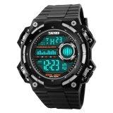 Review Skmei S Shock Militer Sport Watch Water Resistant 50M Dg1115 Black Silver Skmei Di Dki Jakarta