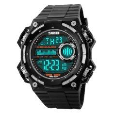 Harga Skmei S Shock Militer Sport Watch Water Resistant 50M Dg1115 Black Silver Terbaik