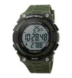 Review Skmei S Shock Pedometer Sport Watch Water Resistant 50M Dg1112S Army Green Skmei Di Dki Jakarta