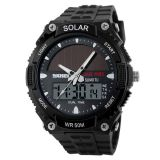 Harga Skmei Solar Power Sport Led Watch Water Resistant 50M Ad1049E Hitam Asli Skmei