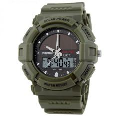 Jual Skmei Solar Power Sport Led Watch Water Resistant 50M Ad1050E Army Green Branded Original