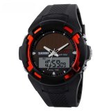 Jual Skmei Solar Power Sport Led Watch Water Resistant 50M Ad1056E Merah Baru