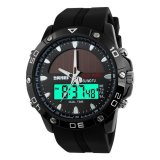 Skmei Solar Power Sport Led Watch Water Resistant 50M Ad1064E Hitam Terbaru