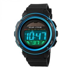 Beli Skmei Solar Power Sport Led Watch Water Resistant 50M Dg1096 Black Blue Online Murah
