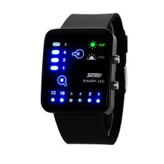 Skmei Trendy Man And Woman Silicone Strap Watch Water Resistant 0890C Hitam Terbaru