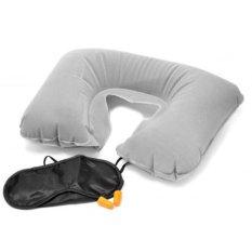 Jual Skytop Perlengkapan Tidur Traveling Travel Pillow Bantal Penutup Mata Telinga Abu Abu Lengkap