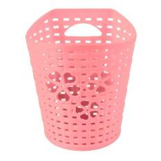 Kecil Pink Biru Hijau Ungu Plastik Sampah Bin Penyimpanan Mini Desktop Tempat Sampah Gantung Kantor Desktop Organizer Keranjang Kertas