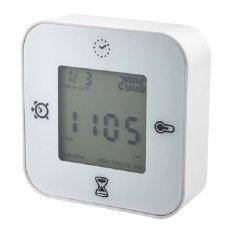 Harga Smart Jam Termometer Pengatur Waktu Alarm Putih New