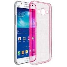 Softcase Ultrathin Soft for Samsung E5 - Merah Clear