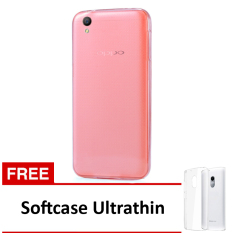Softcase Ultrathin Untuk Oppo F1 S Plus - Pink Clear + Free Softcase Ultrathin