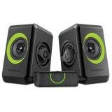 Toko Jual Sonicgear Speakers Quatro 2 Hitam Hijau