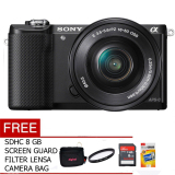 Toko Sony Alpha A5000L Kit 16 50Mm 20 1 Mp Hitam Gratis Mc 8 Gb Tas Uv Filter Screen Guard Online Terpercaya