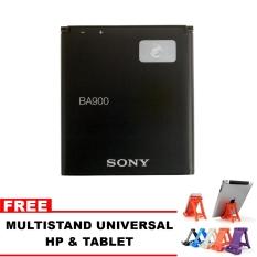 Sony Baterai BA900 Original Non Packing For Sony XperiaJ - Xperia TX - Xperia GX + Free Multistand Universal