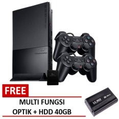 Sony Playstation PS2 Slim Hardisk 40gb + Multifungsi Optik + Full Games + Paket Lengkap