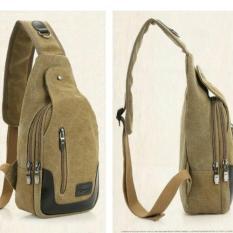 Beli Spens Tas Selempang Badan Pria Men S Sling Bag Khaki Yk253 Dengan Kartu Kredit