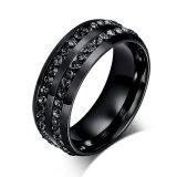 Harga Stainless Steel Hitam Cz Pria Cincin Perhiasan Cincin Untuk Pria