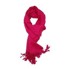 StarJakarta Syal Musim Dingin atau Scarf Winter Polos Pashmina - Pink