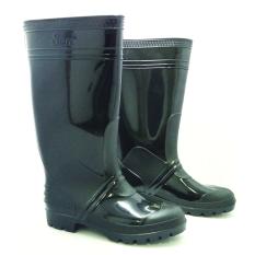 Spesifikasi Steffi Sepatu Boots Karet Hitam Tinggi 41Cm Paling Bagus