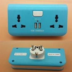 Harga Stop Kontak Portable 2 Lobang 2 Port Usb 5V With Saklar On Off Satu Set